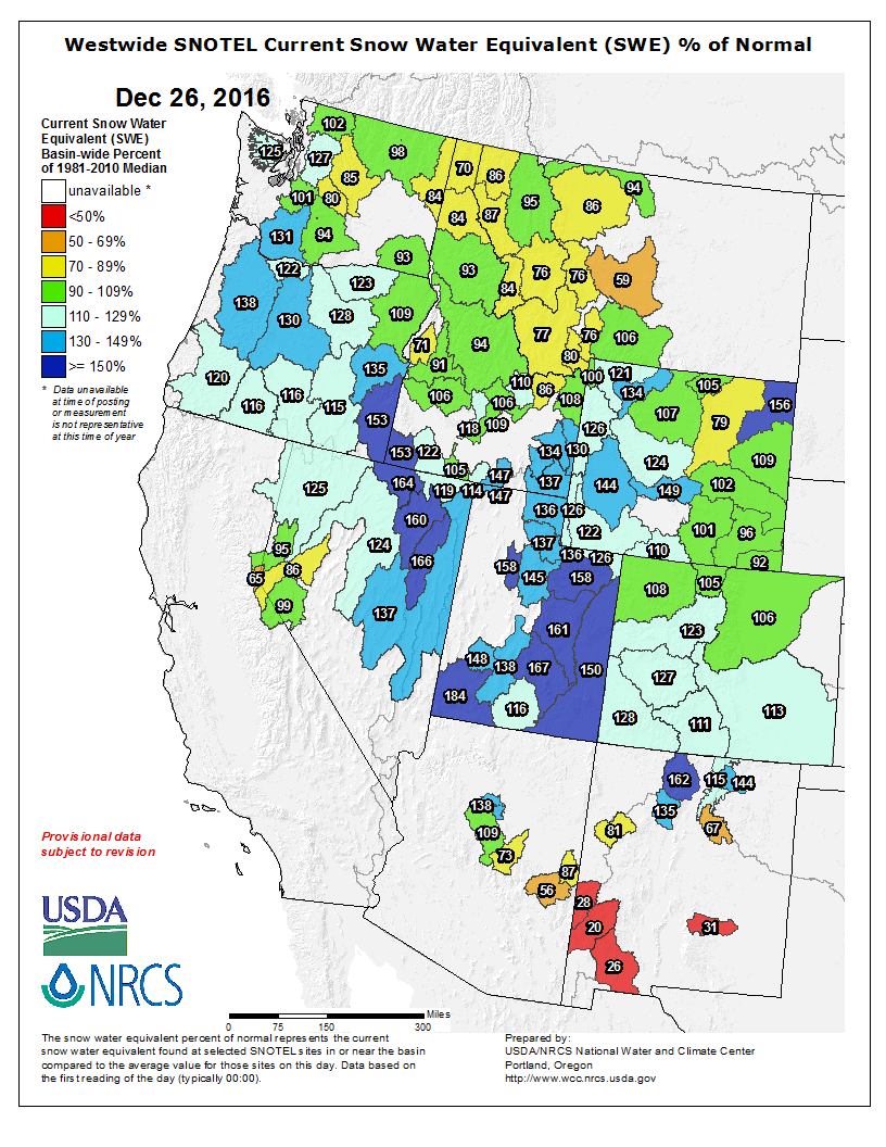 Snotel Montana Map.Snowpack Way Above Average In Much Of The Western Usa Right Now