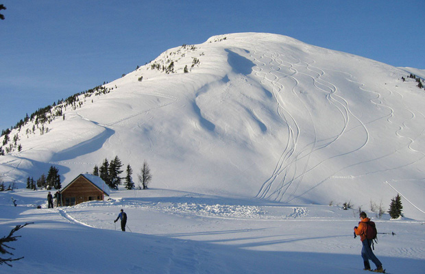 Jumbo Hut and some nearby backcountry options at the site of the proposed resort.