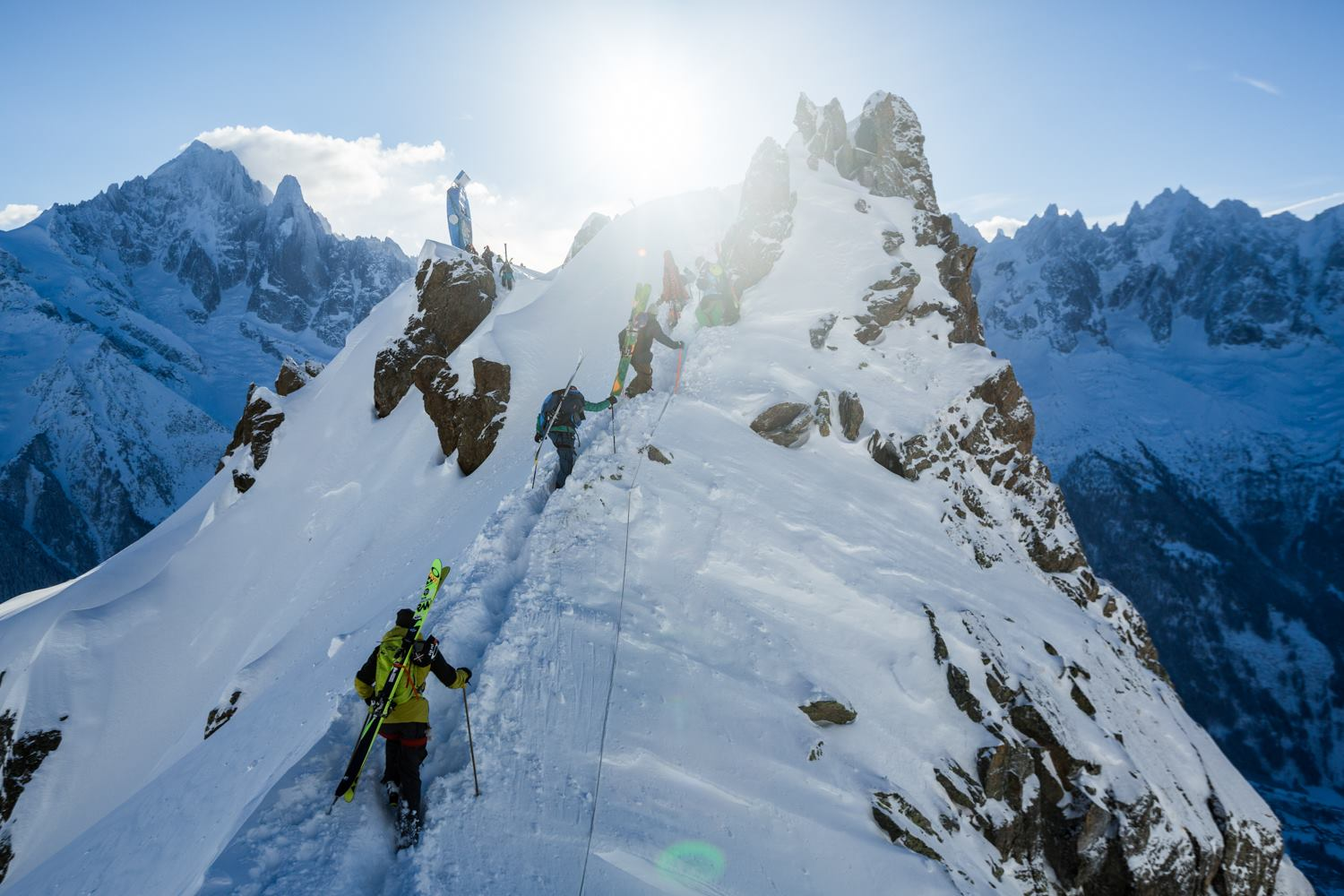 Exactly three weeks left and FWT riders will be hiking up in Chamonix-Mont-Blanc again, battling for the first win of the season. // photo: Jeremy Bernard (Facebook)