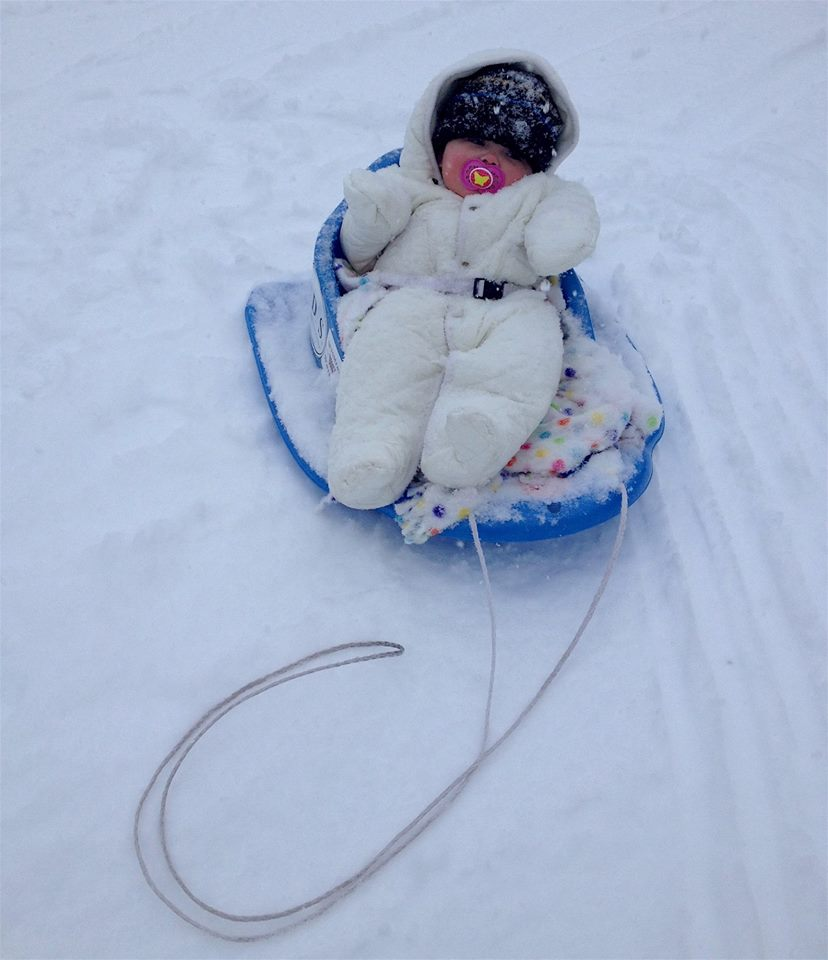 Extreme Baby! at Jackson Hole yesterday. photo: snowbrains