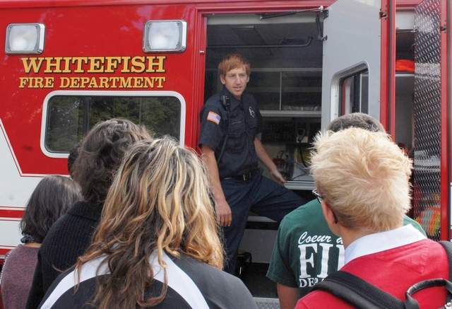 Ben Parsons talks with students at Whitefish High School in 2012. (Pilot file photo)