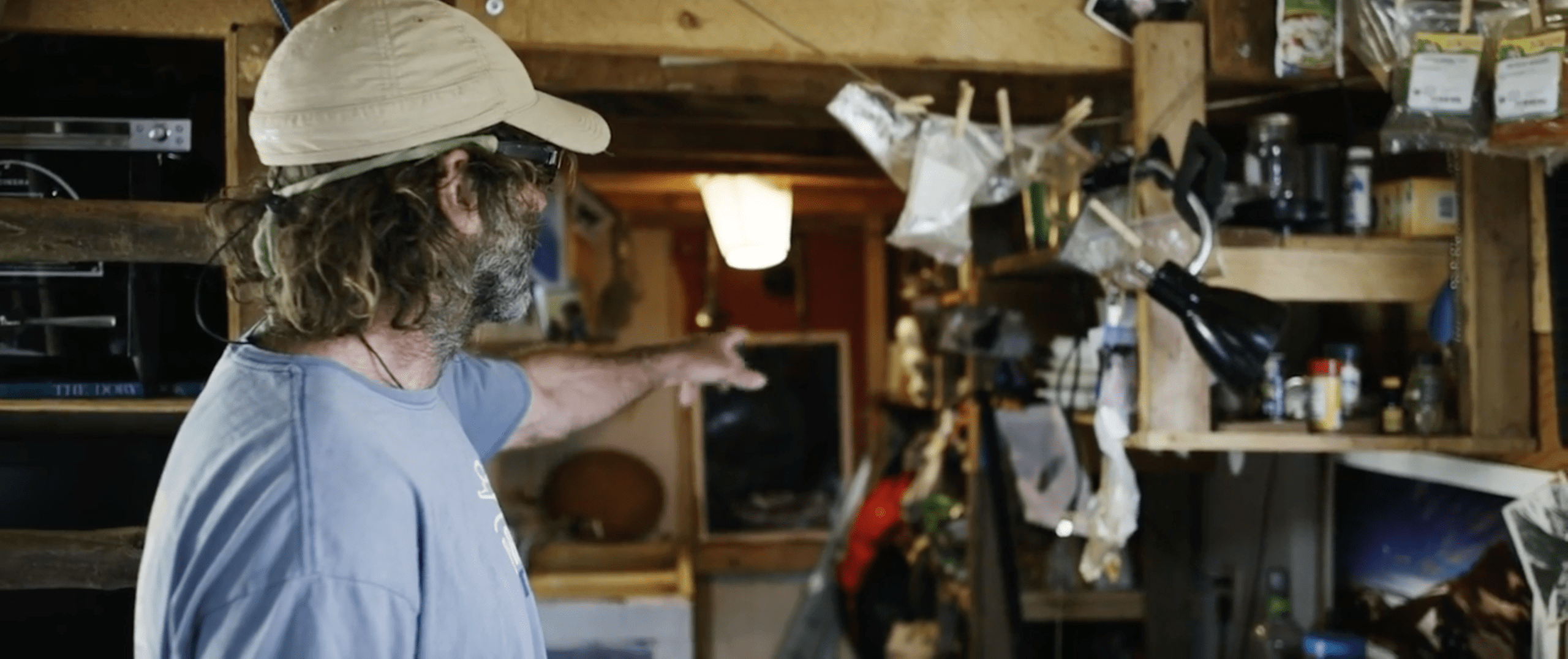 John Shocklee lives in a simple, tiny place. But he haves everything he needs.