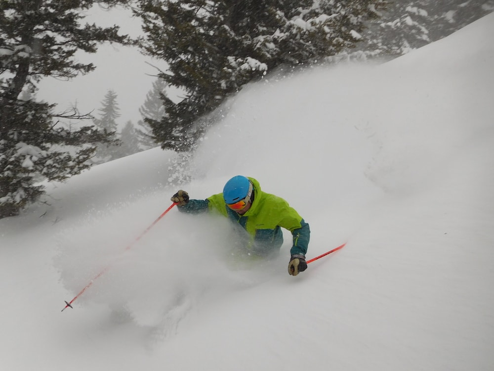 Jamie is good at skiing. photo: snowbrains