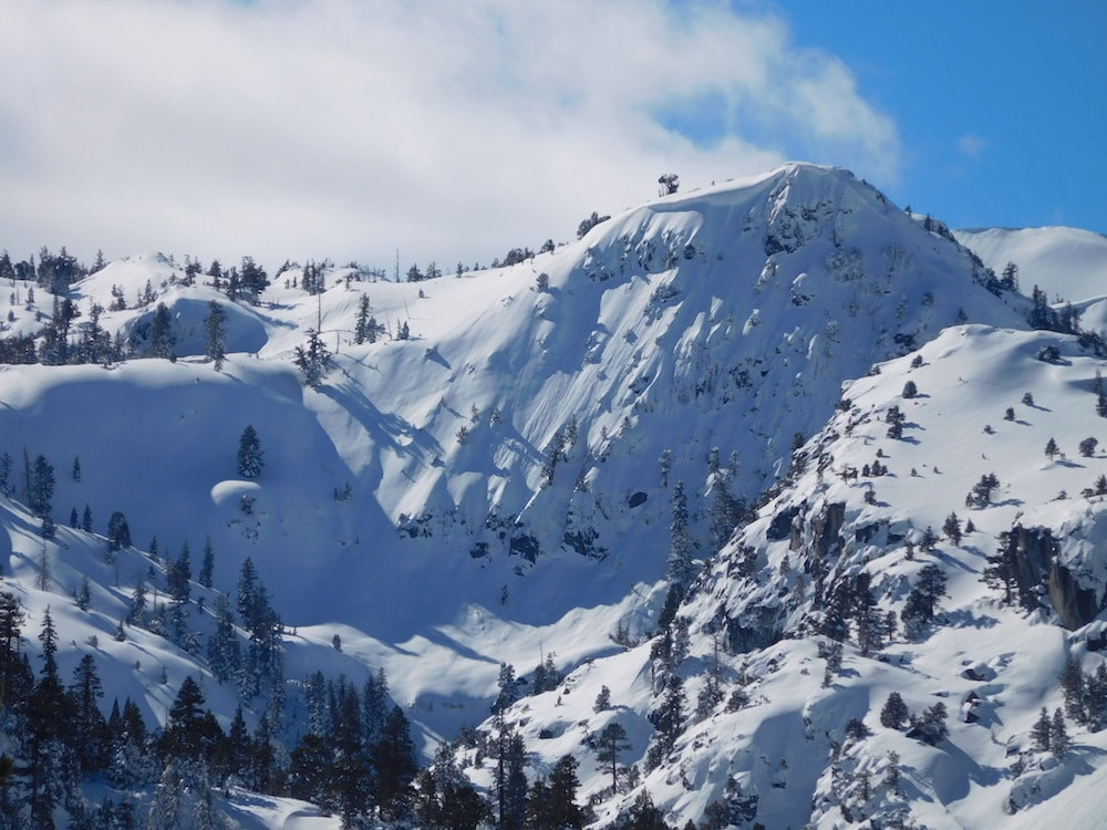 Looking west from Emerald Bay today.  photo:  snowbrains