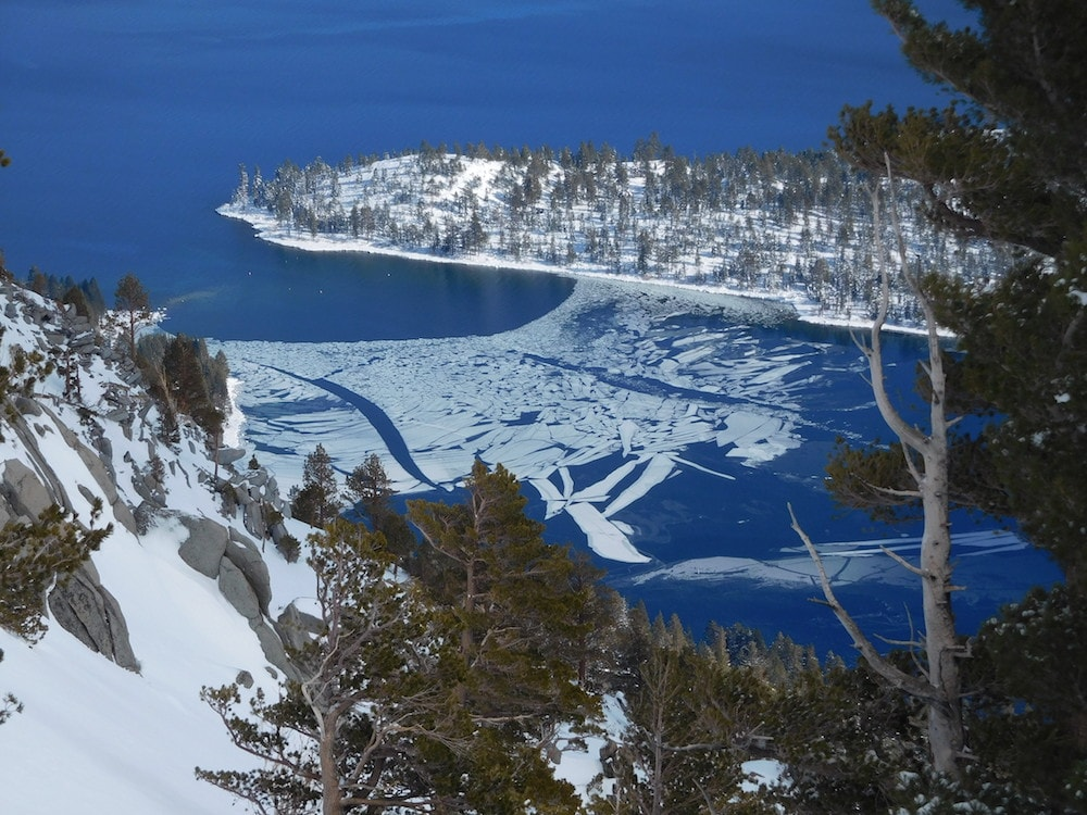 Emerald Bay's mouth today. photo: snowbrains