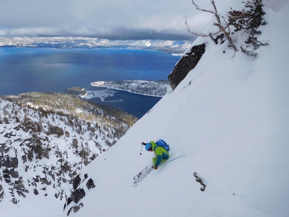 Jamie Blair ripping today. photo: snowbrains