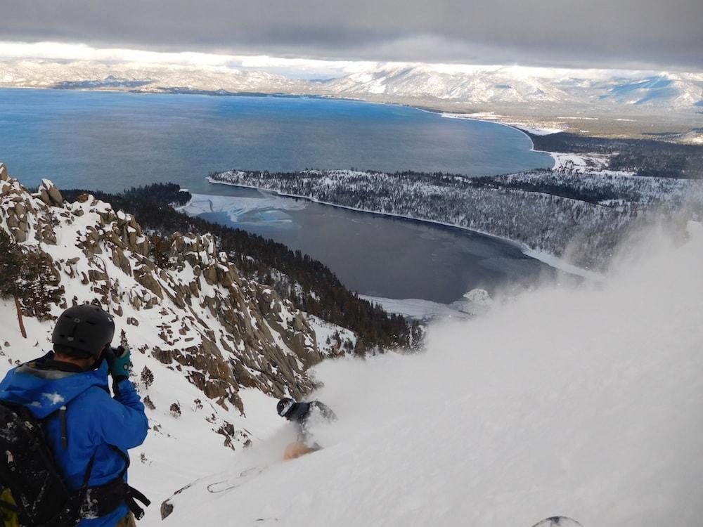 Kieth Robinson in the deep today. photo: snowbrains