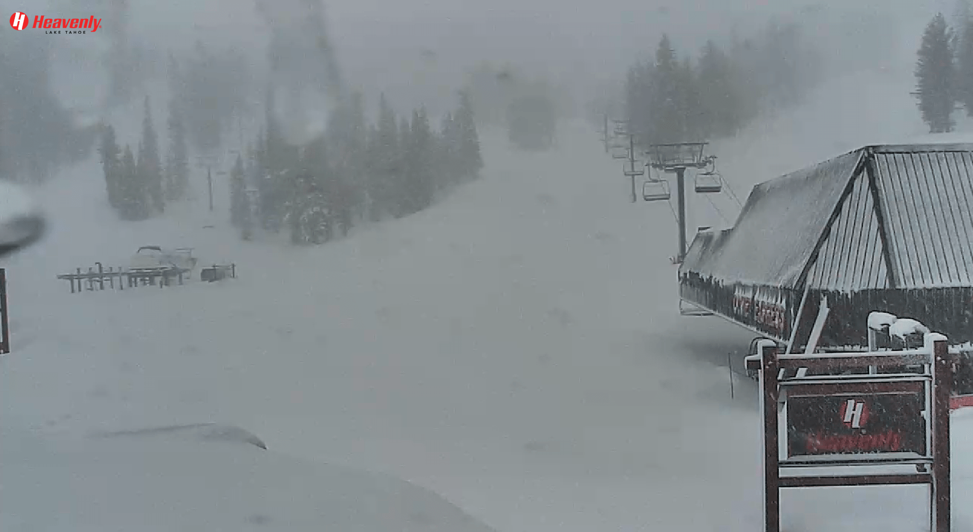 Blizzard at Heavenly. Image: Heavenly Mountain Resort