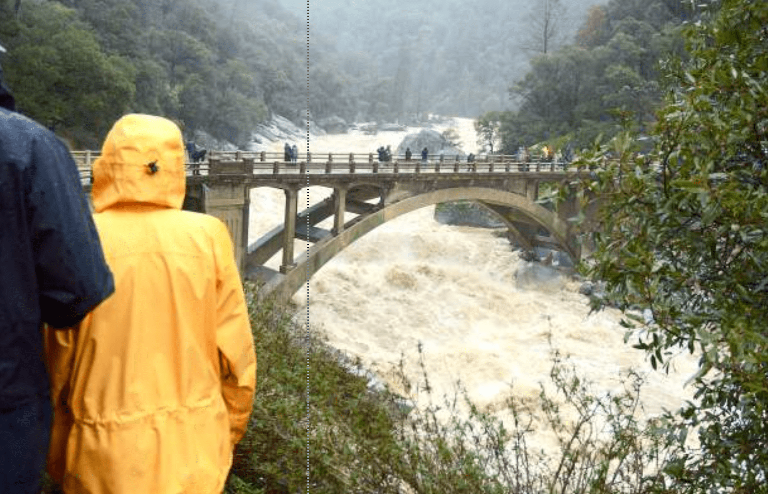 Flooding at the South Fork of the Yuba. Image: The Union