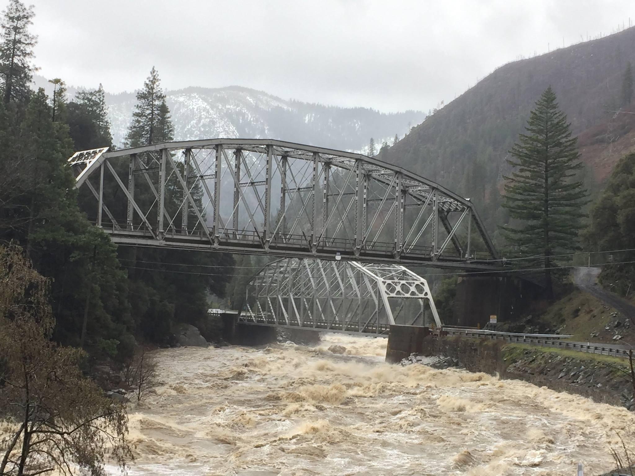 Flooding near SR-70. Image: CHP Donner Pass