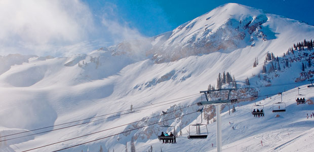 Alta has incredible views and deep powder. Image: Alta Ski Area
