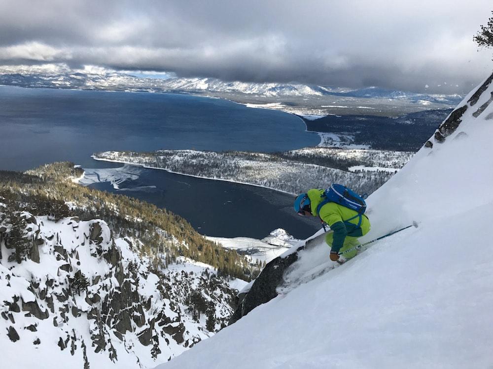 Jamie Blair enjoying the view today. photo: snowbrains