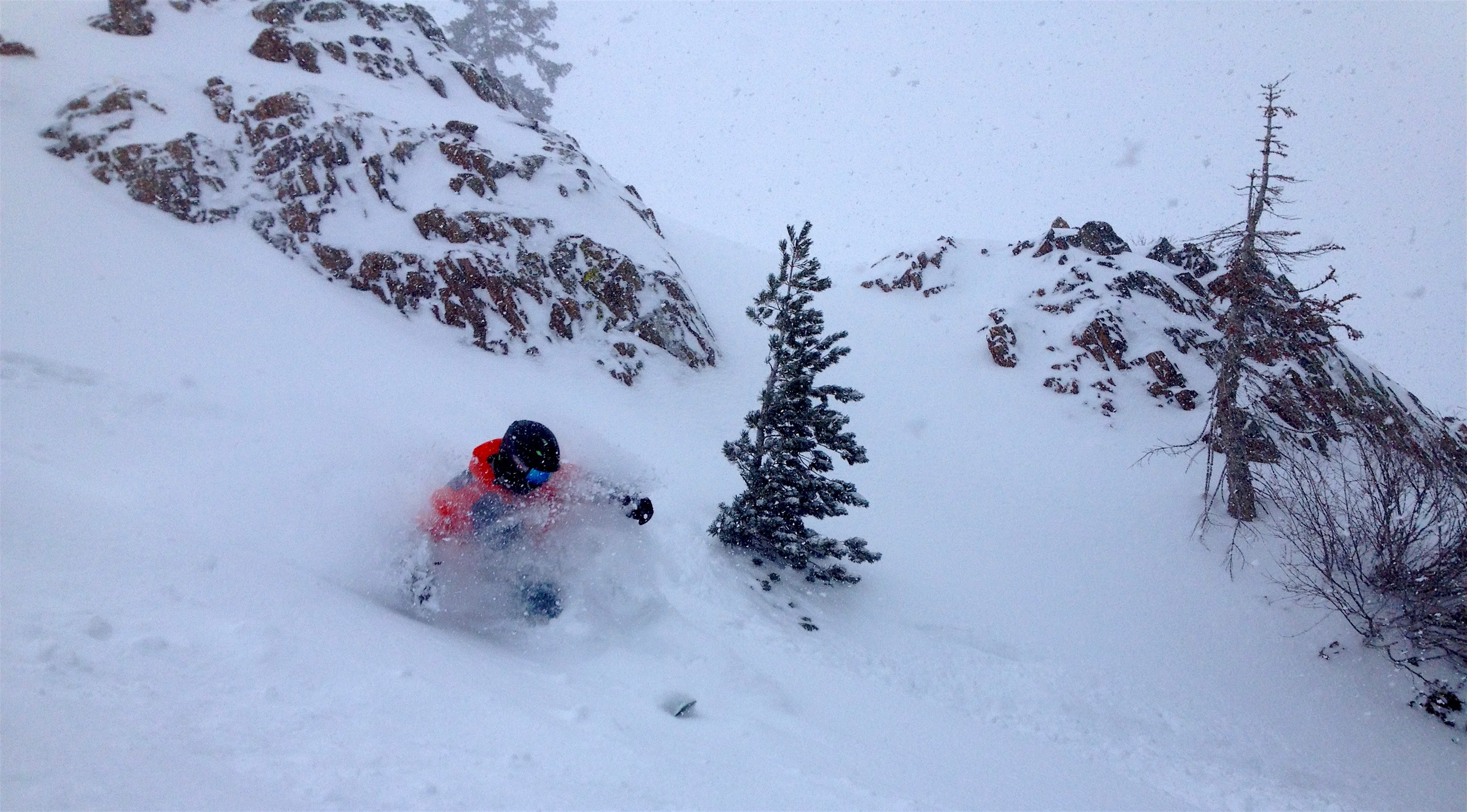 Davi getting snow to the face today. photo: snowbrains