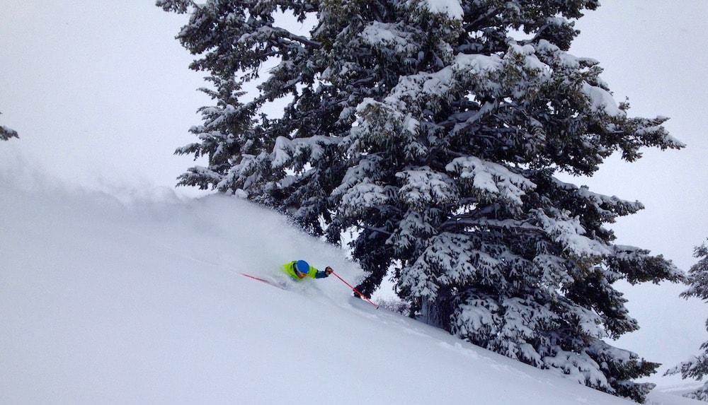 Jamie in the deep. photo: snowbrains: snowbrains