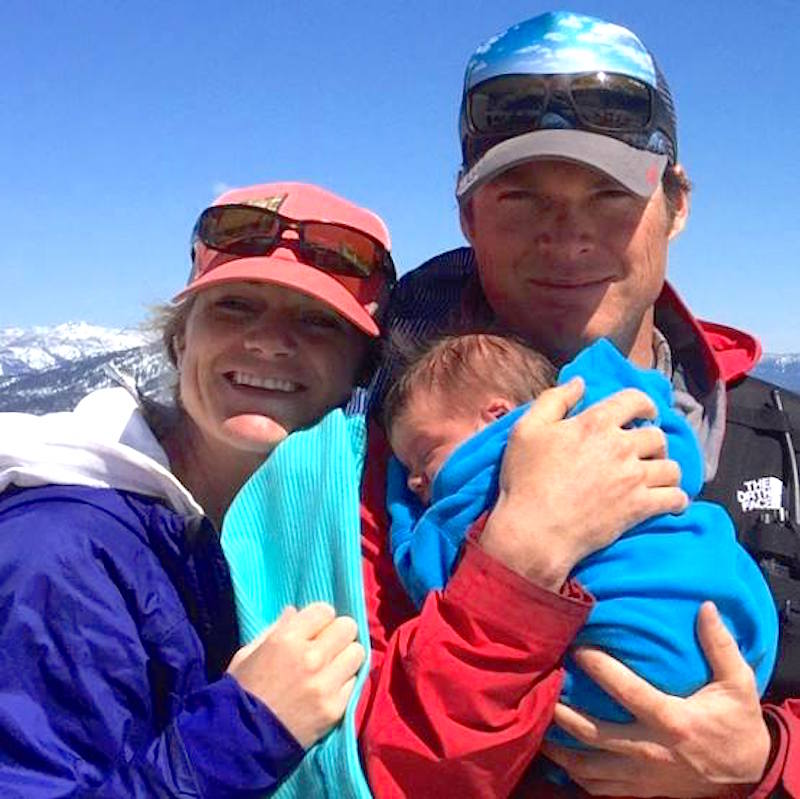 Joseph Kurilo Zuiches, with his wife, Mikki Zuiches, and their 10 month-old son, Cannon, in a recent photo.