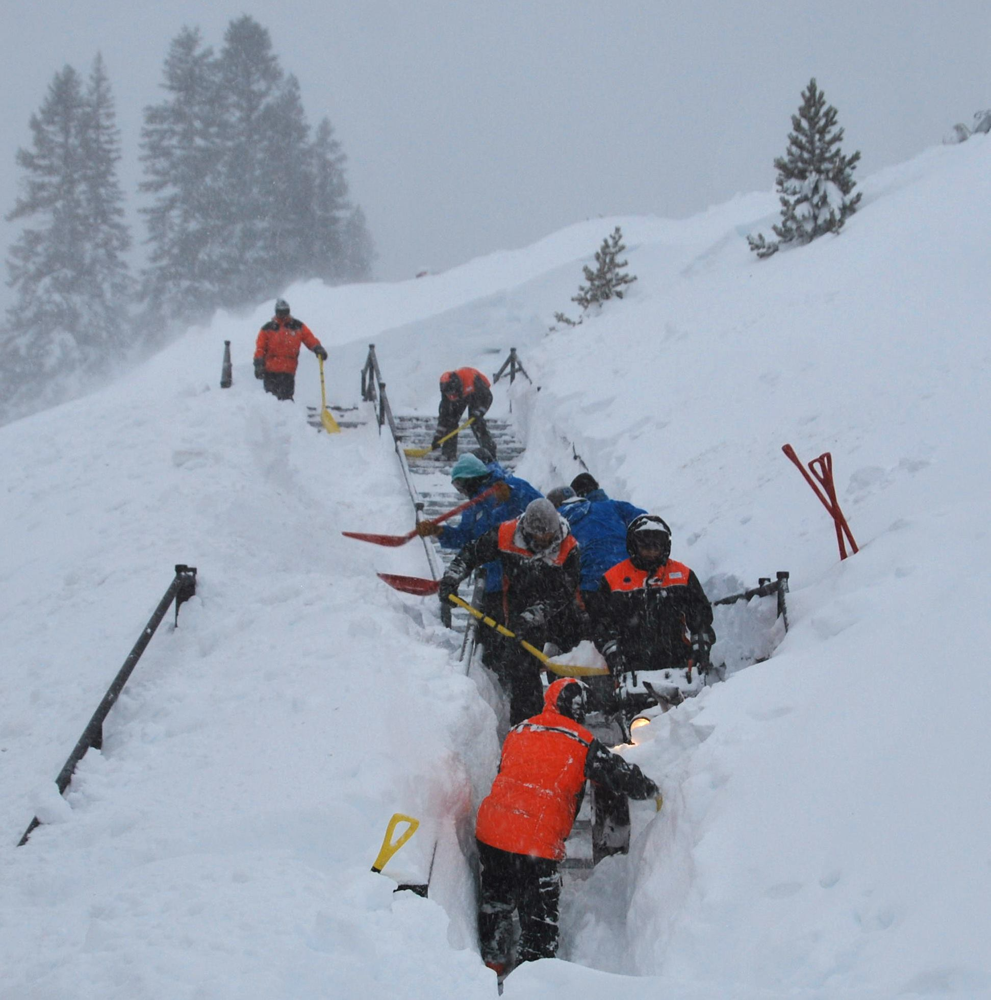 Digging out Mt. Rose after all that snow. Image: Mt. Rose Facebook Page