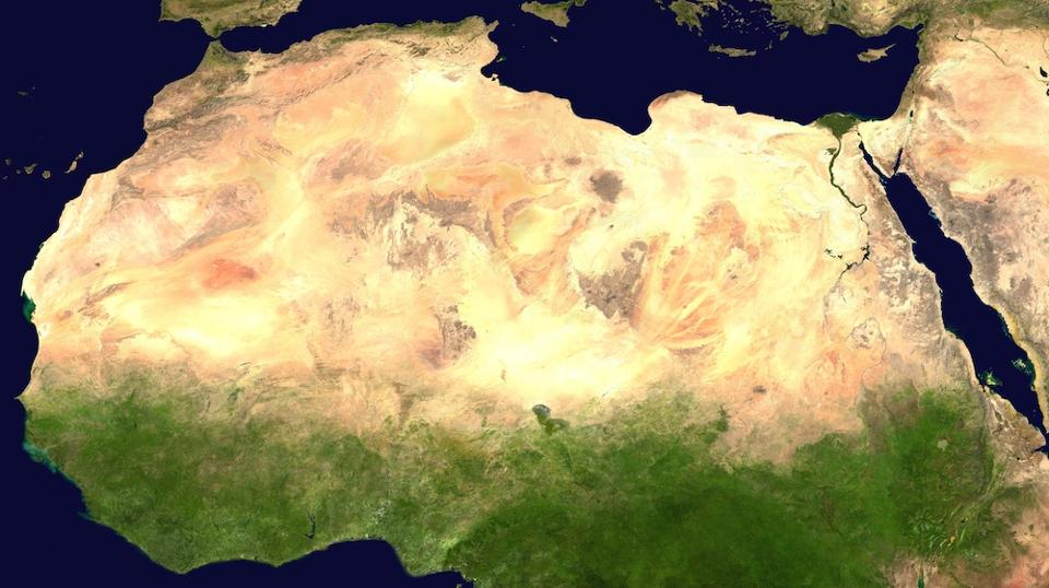Satellite Image of the Sahara Desert. // photo: Wikipedia