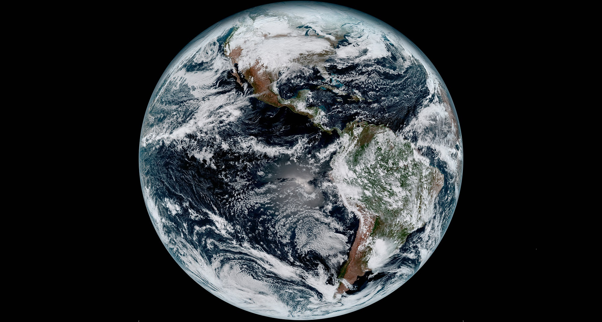 The first image of Earth released from NOAA's GOES-16 weather satellite was taken by the Harris Corporation-built Advanced Baseline Imager. pc; NOAA