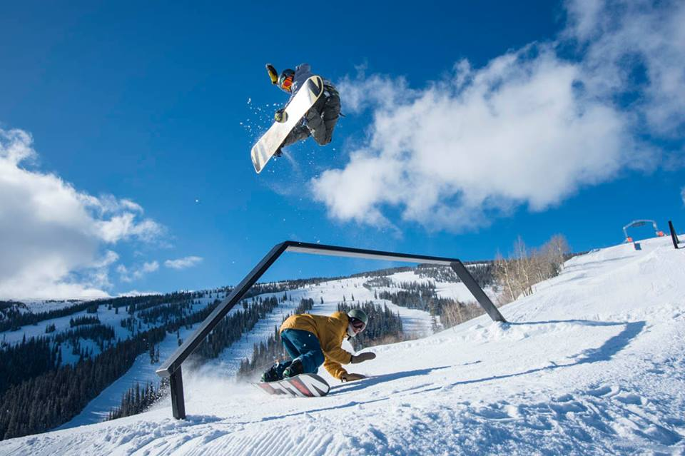 Aspen Snowmass with a creative rail feature. Source: Aspen Snowmass Facebook Page