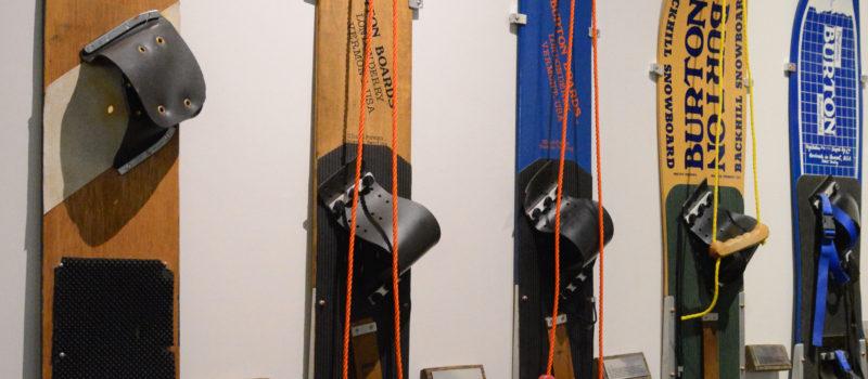 Vintage Burton snowboards. Photo: Burton