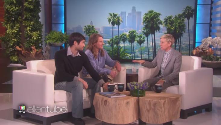 Richard and Mickey with Ellen. // photo: Ellen Show