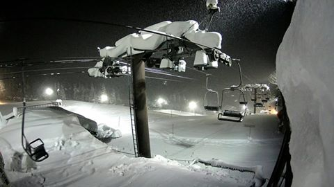 Snow in Hakuka has been falling all throughout the winter, and it's looking deep! Source: Hakuka Happo-One Facebook Page