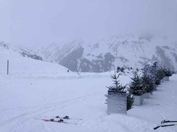 Les Arcs, France got some snow last week.