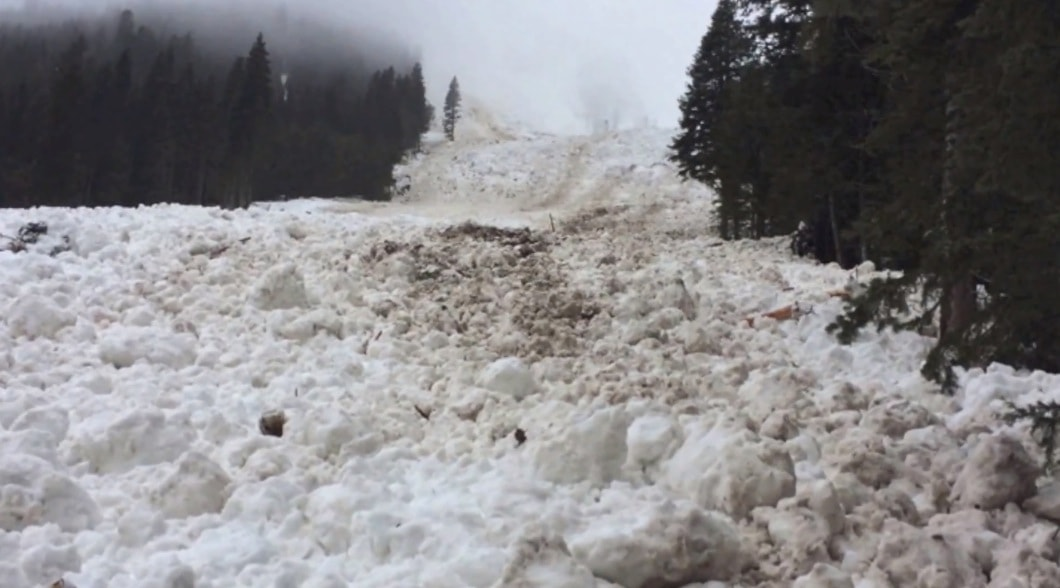 Stock image of Crystal Mountain, WA avalanche on March 10th, 2014.
