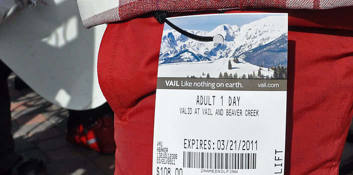 "Image from 2011 when a lift ticket to Vail cost ""just"" $108. // photo: Unofficial Networks"