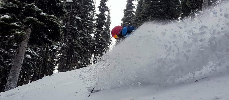 Skiing, crystal mountain, powder