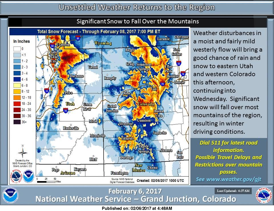 Heavy Snow Headed For WA CA MT ID CO UT WY FEET Of - Weather seattle noaa