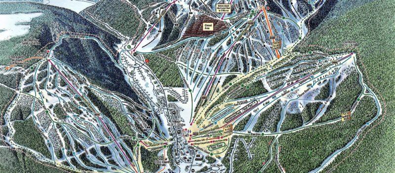 Sun Peaks, Resort Trail Map