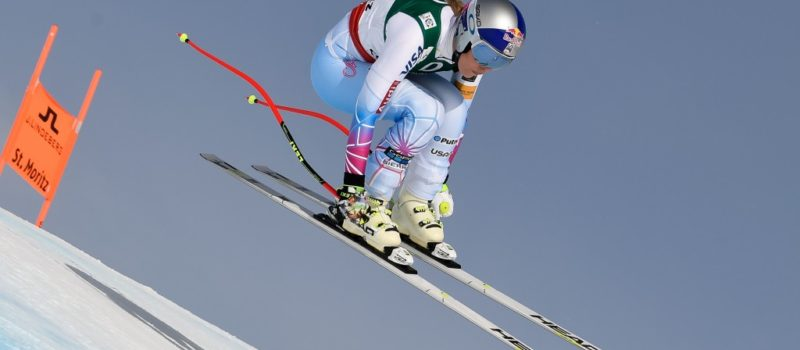 Lindsey Vonn was third in Sunday's downhill in St. Moritz, Switzerland. (Getty Images/Agence Zoom-Alain Grosclaude)