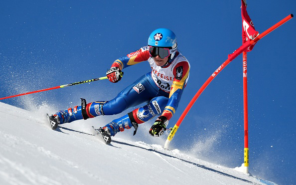 Megan McJames was 21st, a career-best World Championships result, in St Moritz. (Getty Images/AFP-Fabrice Coffrini)