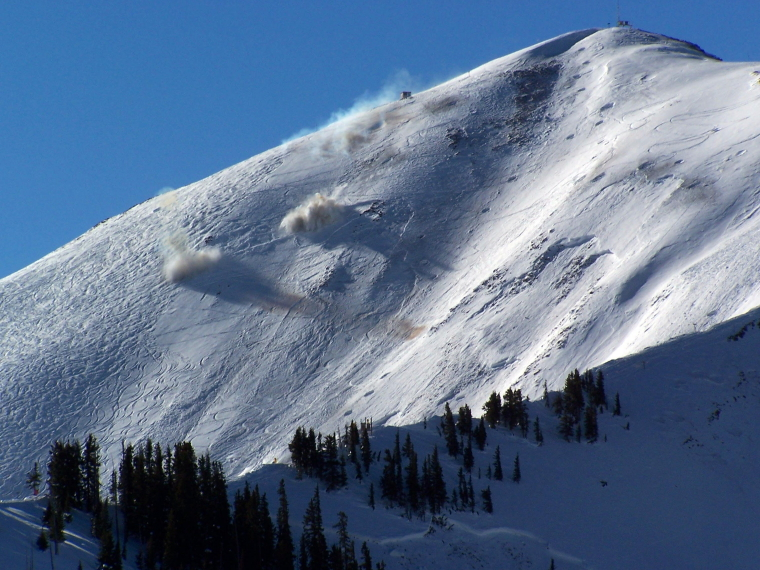 Stock image of an avalanche in Aspen highlands Bowl. credit; Carsen Travels