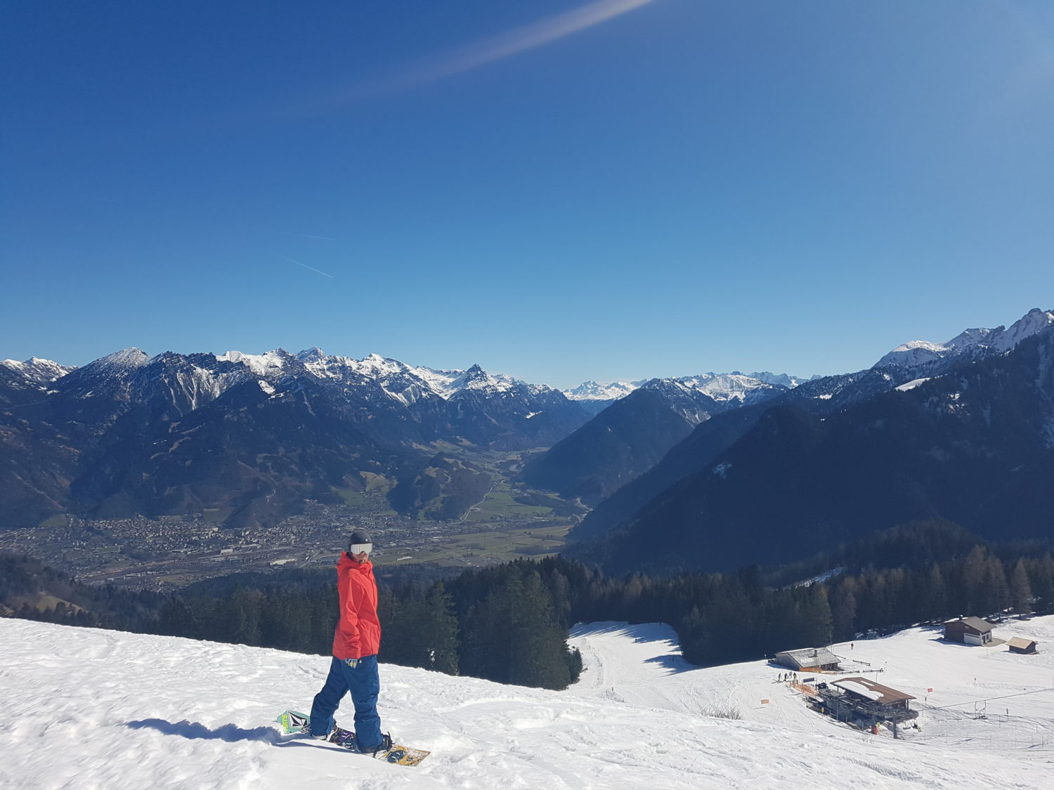Simon enjoying the View - Bludenz in the Background
