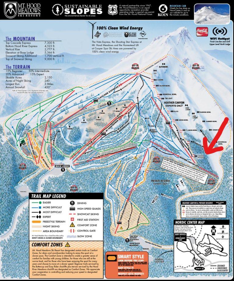 hood mount skier claims well tree snowbrains