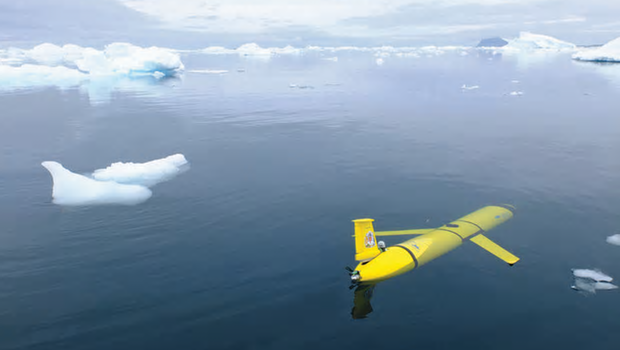 An artist's impression of Boaty in a polar environment