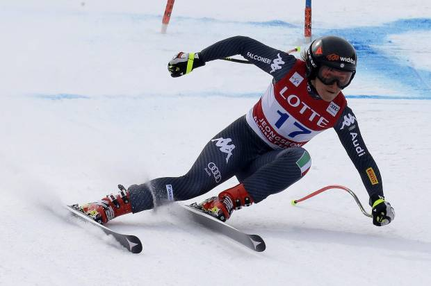 Sofia Goggia of Italy competes during the Audi FIS Ski World Cup 2017 Ladies' Super G at the Jeongseon Alpine Centre on March 5, 2017 in Jeongseon-gun, South Korea. (March 4, 2017 - Source: Tom Pennington/Getty Images AsiaPac)