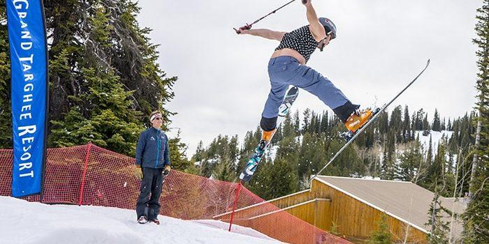 Grand Targhee spring skiiing gaper day