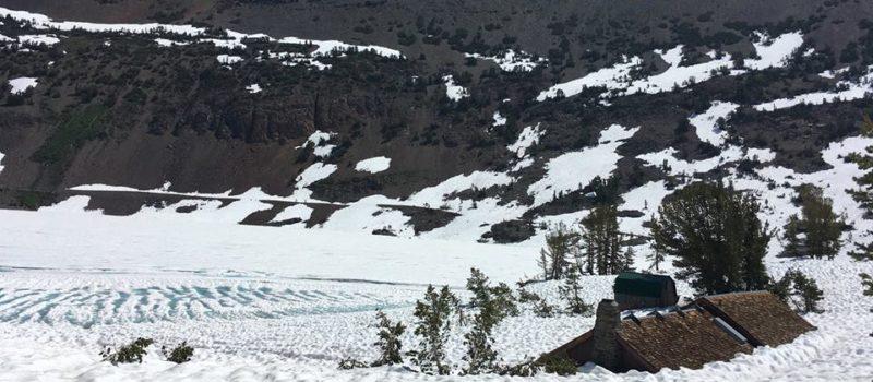 Saddlebag Lake Resort, CA, California, Snow, Buried, General Store