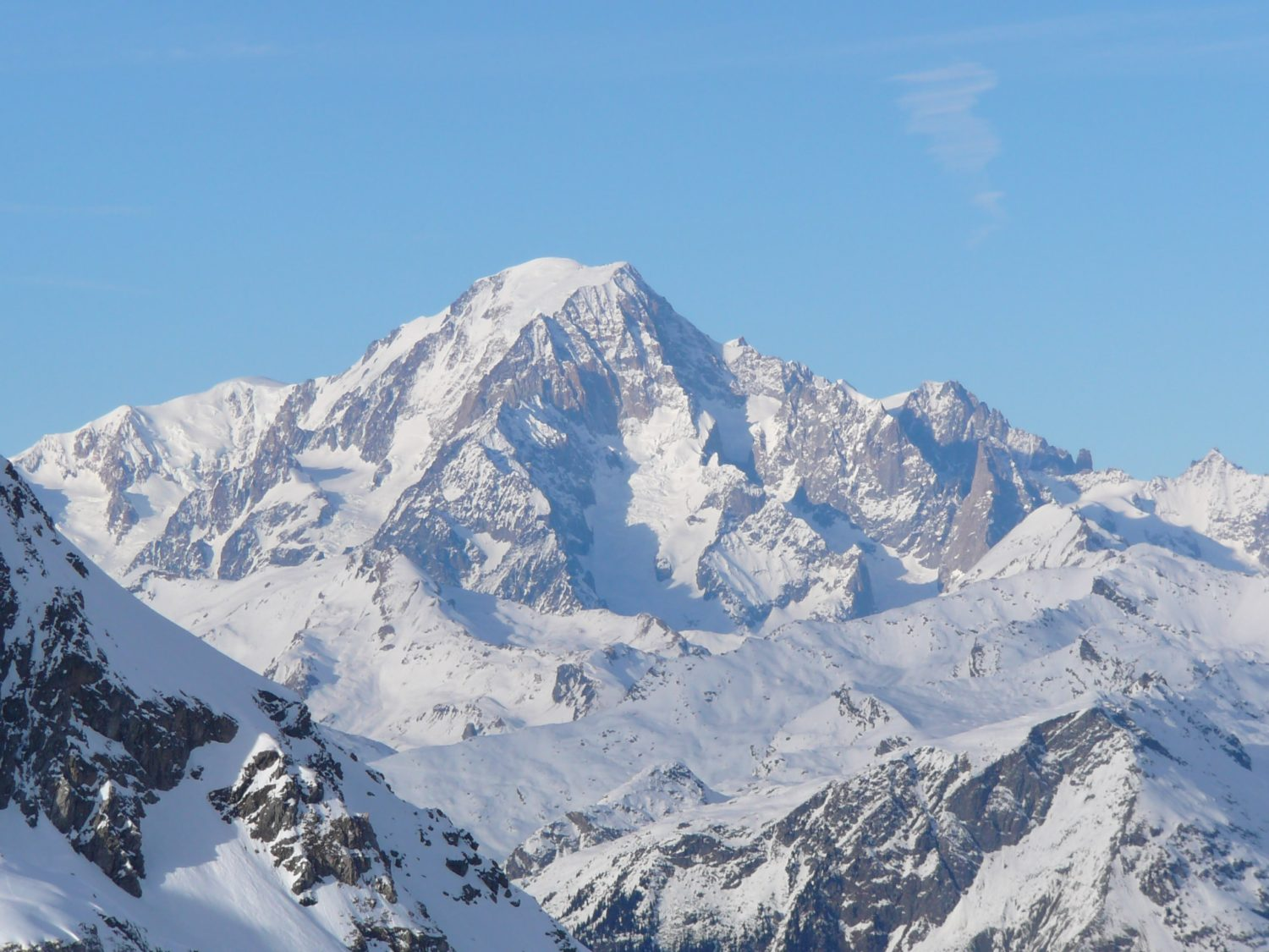 Mont Blanc, France, Italy, Chamonix, Alps, Highest peak in Europe