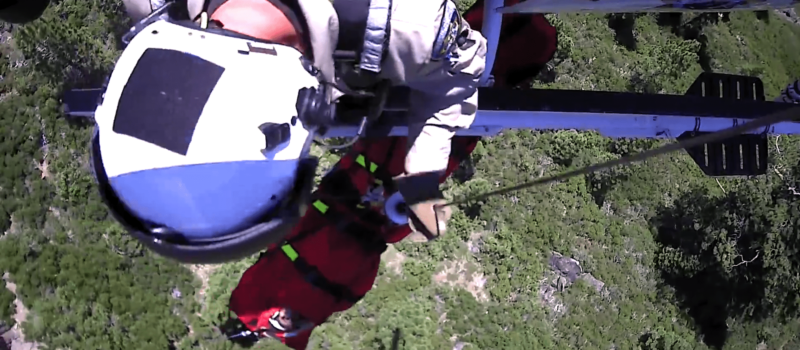 Truckee, Climbing, Airlift, Rescue, Male Climber