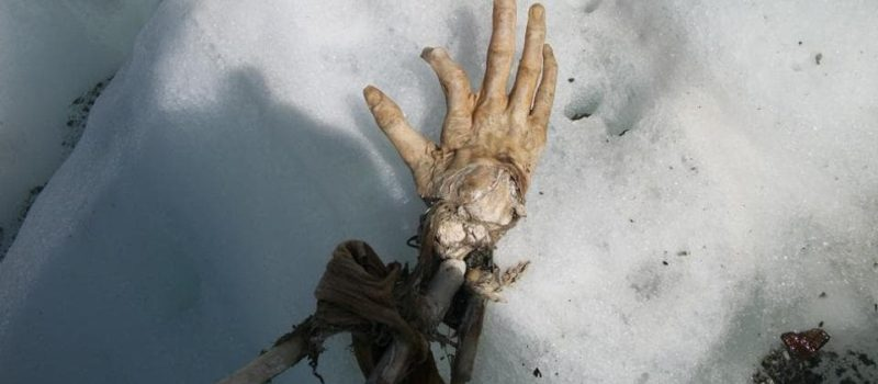 Hand, Remains, Bosson, Glacier, Alps, France, Chamonix, Crash, Air India