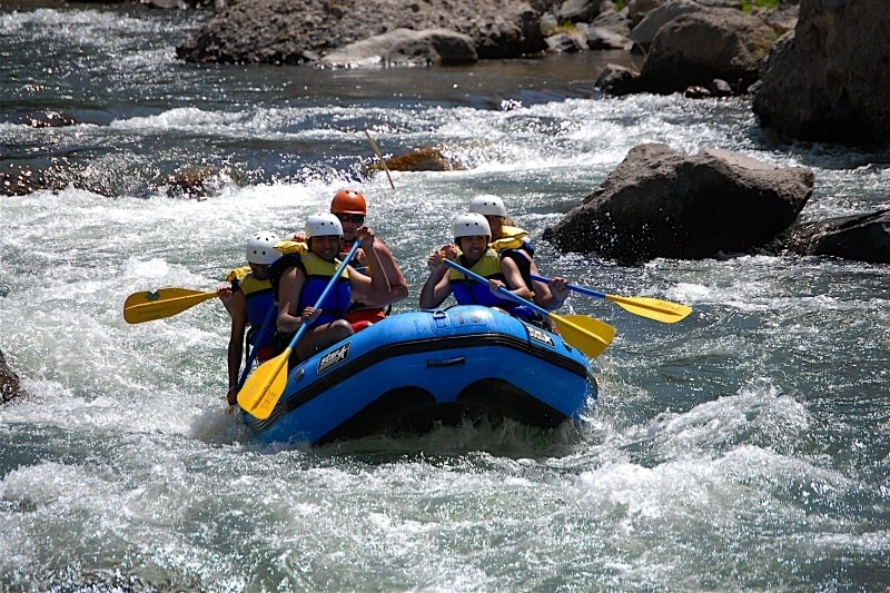 River Truckee rafting near Tahoe Dam California