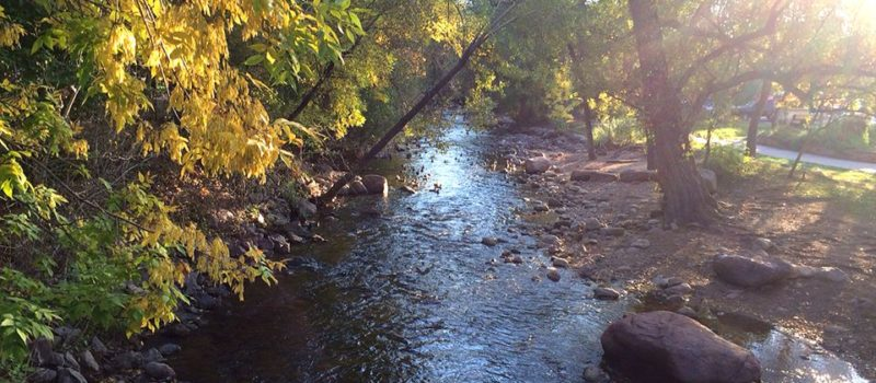 Boulder Creek tubing path