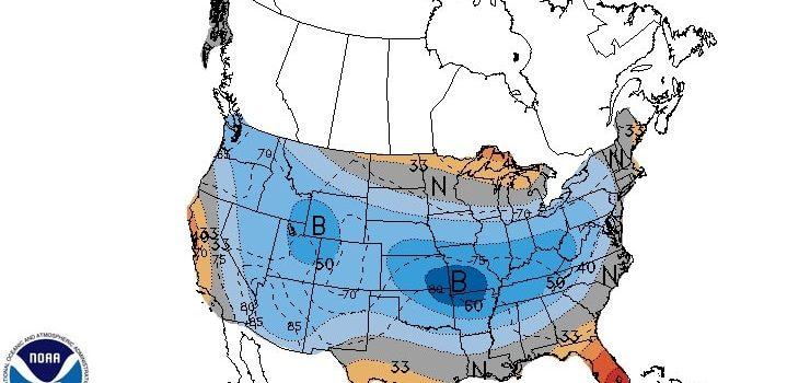 Temperatures, lower, average, colorado, america, noaa