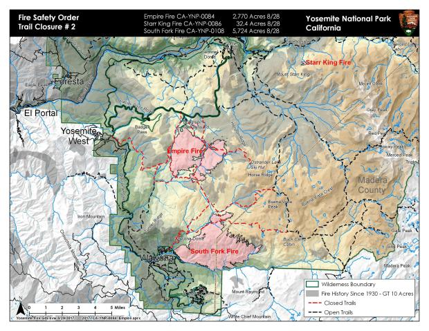 Fire Map Yosemite.Yosemite National Park Ca Is On Fire Highway 41 Glacier Point