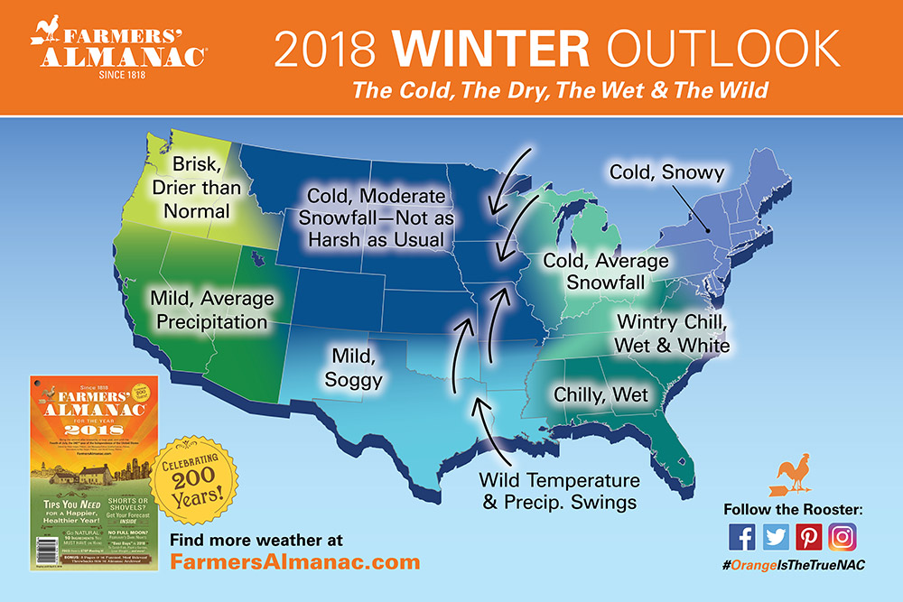 showing 3rd image of 2018 Winter Weather Predictions For Northeast Map showing a Winter weather prediction for 2014