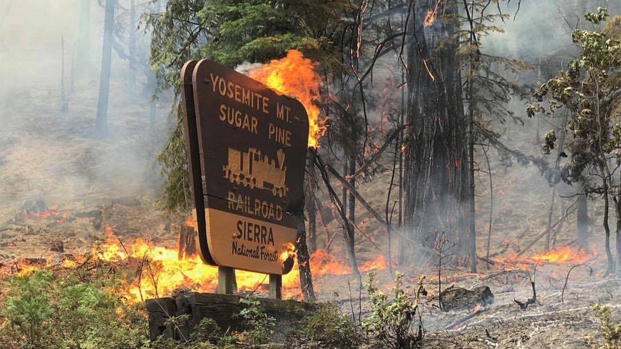 Yosemite National Park, CA is on Fire | Highway 41 ...